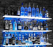 Lighted Liquor Bottle Shelves