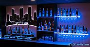 Best Lighted Liquor Bottle Shelves for The Home Bar
