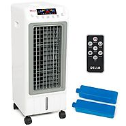Portable Evaporative Ionizer Air Cooler Humidifier Remote Tower Fan Cooling