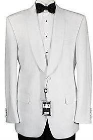 Men's White Suit Black Lapel