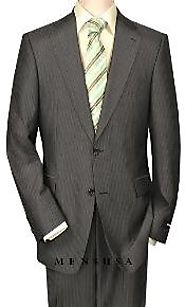 Look Great With Blue Pinstripe Suit- MensUSA Online