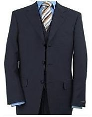 Adorable Navy 3 Piece Suit For Men- MensUSA