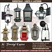 Horse Shed lights & lantern