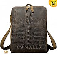 CWMALLS® Designer Embossed Leather Backpack CW916010