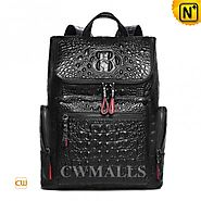 CWMALLS® Designer Leather Backpack Embossed CW936035