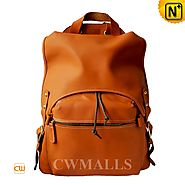 CWMALLS® Designer Leather Flap Backpack CW906065