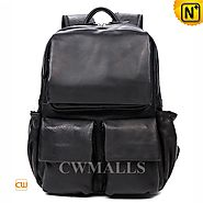 CWMALLS® Leather Travel Backpack Black CW916003