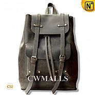 CWMALLS® Vintage Leather Flap Backpack CW915790