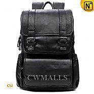 CWMALLS® Flap-over Leather Backpack for Men CW916005
