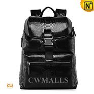 CWMALLS® Python Embossed Leather Backpack CW936036