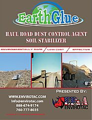 Earth Glue - Lowest Cost Dust Control and Soil Stablilization Polymer