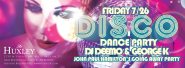 Disco Fever Comes to Huxley DC Nightclub and Lounge This Friday