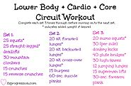 Lower Body + Cardio + Core Workout