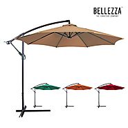 Belleze Premium Patio Umbrella 10' Feet Patio Tilt W/ Crank Outdoor Cantilever