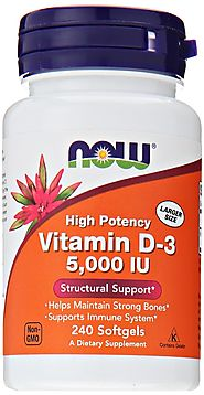 Vitamin D3 5000 Iu, 240 Softgels