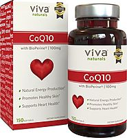 Viva Naturals CoQ10 100mg, 150 Softgels - Enhanced with BioPerine® for Increased Absorption