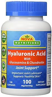 Nova Nutritions Hyaluronic Acid 100 mg per serving 120 Capsules