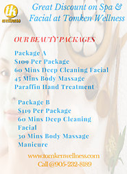 Discount Available on Spa and Facial in Toronto