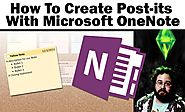 How To Create Sticky (Post-it) Notes With OneNote 2013