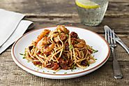 Tiger Prawn Spaghetti with Chilli and Sun-Dried Tomatoes