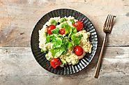 Seasonal Broad Bean Risotto with Balsamic Glazed Cherry Tomatoes