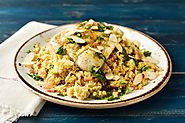 Moroccan Spiced Cod Parcel with Fragrant Couscous and Orange Dressing