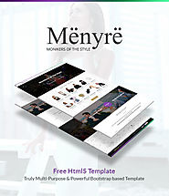 Menyre One Page Layout - Free Html5 Template - TemplatesCraze.com