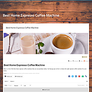 Best Home Espresso Coffee Machine