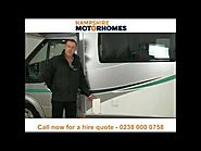 Motorhome hire and campervan rental Hampshire - Call 0238 000 0758