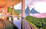 Jade Mountain, on St Lucia's South Western Caribbean coastline