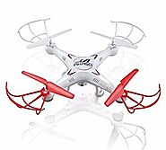 Akaso X5C 4-Channel 2.4-GHz 6-Axis Gyro Headless 360-Degree 3D Rolling Mode RC Drone Quadcopter with HD Camera, Micro...