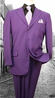 Get A Striking Look Easily With Purple Tuxedo