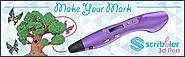 Scribbler 3D Pen V3 New Awesome Design Model Printing Drawing 3D Pen with LED Screen Different Colors