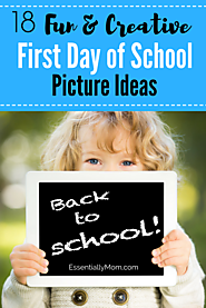 18 Fun & Creative First Day of School Picture Ideas