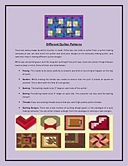 Different Quilter Patterns