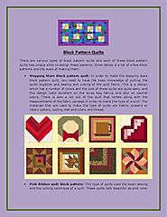 Block Pattern Quilts