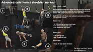 Calisthenics shoulder workout for beginners to advanced.