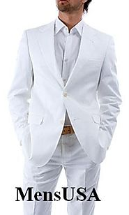 Mens White Linen Suits for Wedding