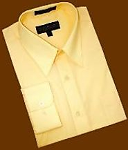 Latest Collection Of Bright Yellow Dress Shirt For Men