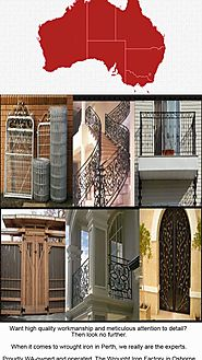 Wrought Iron factory - Perth wrought iron