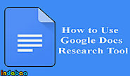 Use Google Docs Research Tool: How-to