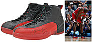 "#6- Original Air Jordan 12 ""Flu Game"" $104,765"