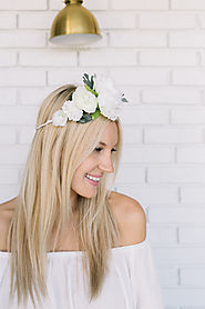 White Flower Crown DIY