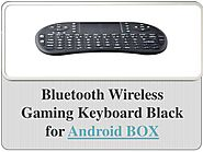 Bluetooth Wireless Gaming Keyboard Black for Android BOX