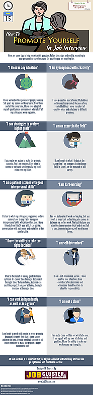 How to Promote Yourself in Job Interview [INFOGRAPHIC]