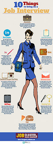 10 Essential Things to Bring to the Interview- Infographic