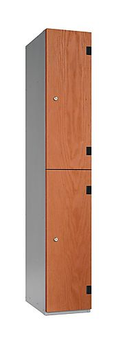 2 Compartments Shockproof Lockers - Overlay Door