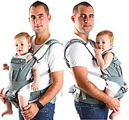 Baby Carrier 6 in 1 | Erogonomic Baby Sling Carrier W/Pockets| 100% Organic Cotton Fabric | Breathable 3D Mesh Materi...