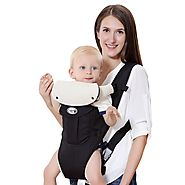 Langforth Baby Carrier Soft Front baby Backpack 5 Carrying Positions for 7.9-26.4lbs Infant Toddler