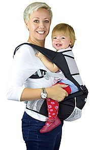 NimNik Baby Sling Carrier Ergonomics Lightweight Hipseat with Lumbar Support, 4 in One Back 2 Front Facing Comfort Po...